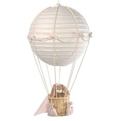 Mini Line Hot Air Balloon Nursery Lights - Pink with Rabbit £60