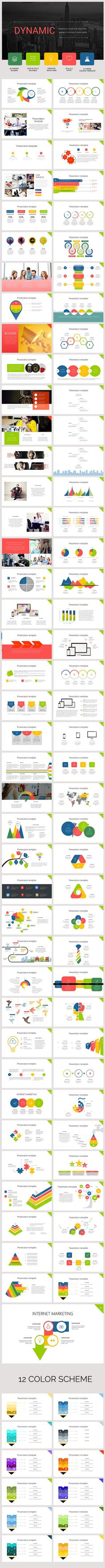 Dynamic presentation template  by oyunerdene99 on @Graphicsauthor