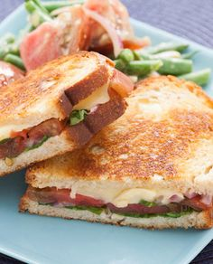 Superbly melty, Fontina cheese is a natural choice for grilled cheese. Between toasty slices of sourdough, with slices of heirloom tomato, these sandwiches are an exquisite take on summer comfort food!