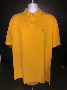 cc5abdf4c Men s Tommy Hilfiger Polo Shirt Short Sleeve Box Logo Yellow Size X-Large  631620450847