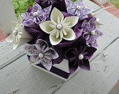 Paper Flower Girl Wand - Origami Flowers - Kusudama. $12.00, via Etsy.