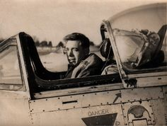 Grandad in the cockpit when in the RAF