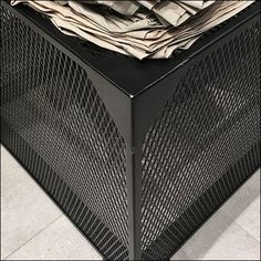 Though mesh is assumed the same, this Black Expanded Metal Display Base visually presents seeming less show through than other color powder coated. H&m Shopping, H&m Store, Metal Facade, Expanded Metal, Perforated Metal, Store Fixtures, Color Powder, Metal Mesh, Furniture Design