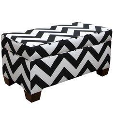 Skyline Furniture Storage Bench in Zippy Black-White  http://www.overstock.com/10520281/product.html?CID=245307