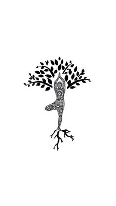 Yoga Tree | Tree Pose | Vrksasana | Balance | Yoga Tattoo Idea | The Tree of Yoga | Rooted | Balanced
