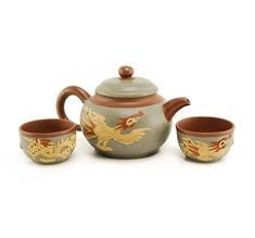 Phoenix and Dragon Yixing Teapot