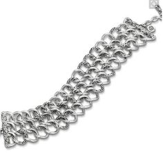 John Hardy Sterling Silver Link Bracelet Classic  Chain Wide  NWT $650.00 #JohnHardy #Link