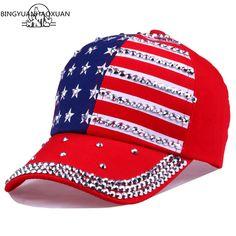 BINGYUANHAOXUAN Men Women Baseball Cap USA Flag Diamond Rivet Brand Snapback Cap Unisex Adjustable Rap Rock Hats Fashion Gorras. Yesterday's price: US $7.70 (6.34 EUR). Today's price: US $5.16 (4.25 EUR). Discount: 33%.