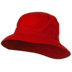 Water Repellent Microfiber Golfer Hat - Red