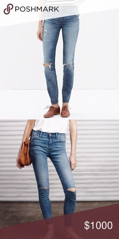 High rise jeans madewell