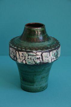 Carstens Space Capsule Vase West German Pottery by vintagemoodsNL