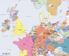 Map showing Europe 1300 Northwest  ▼ ✂ 20160314,1732