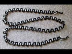 Eyeglass Rope Preparation - Diy World Seed Bead Necklace, Beaded Necklace, Beaded Bracelets, Beading Tutorials, Beading Patterns, Beaded Jewelry Designs, Handmade Jewelry, Diy Schmuck, Bracelet Tutorial