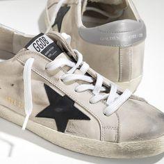 21fbe6c381e GGDB Dames - Beste 2016 Golden Goose Super Star Khaki Zwart Zilver Dames  Sneakers Super Star