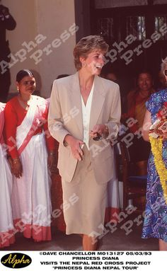 """05/03/93 PRINCESS DIANA VISITS """" THE NEPAL RED CROSS PROJECT """" IN NEPAL"""