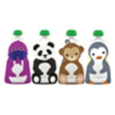 Squooshi Reusable Food Pouch - Large - oz - 4 pk Freezable No-choke cap Dishwasher safe Convenient BPA Free Phthalate Free PVC Free Reusable Adorable Lead Free Not recommended for microwave use. Not recommended for liquids. Pureed Food Recipes, Baby Food Recipes, Squishy Food, Zip Lock, Boite A Lunch, Baby Food Storage, Little Lunch, Thing 1, Toddler Snacks