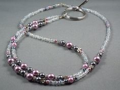 Breakaway lanyard necklace with bead chain 32 to