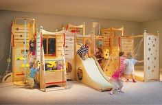 Like this but DIY (basement playroom)