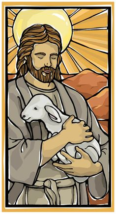 Good Shepherd Holy Card with Psalm 23.