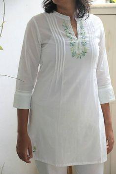 White Kurta #Kilol #Indigene #Embroidery