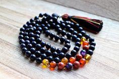 Blue Goldstone Citrine Carnelian Red Jasper & by YogaDotOm on Etsy