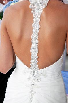 wedding dress open back #wedding #gowns