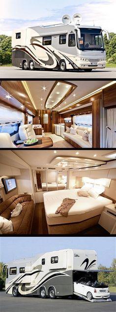 Now i understand why luxury rv camper are cool 17 Bus Camper, Kombi Motorhome, Rv Campers, Campervan, Luxury Bus, Luxury Travel, Luxury Campers, Rv Travel, Luxury Motorhomes