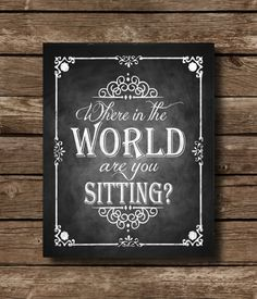 Where in the World are you sitting by SasafrasPrintables on Etsy
