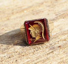Vintage Men's Trojan Intaglio Cameo by Gener8tionsCre8tions, $125.00