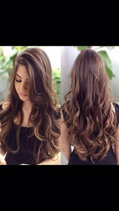 Amazing hairstyle tutorial I love her hair Inspiration to grow your hair long.Love her long hairstyles . Weave Hairstyles, Pretty Hairstyles, Girl Hairstyles, Layered Hairstyles, Latest Hairstyles, Perfect Hairstyle, Brunette Hairstyles, Style Hairstyle, Vintage Hairstyles
