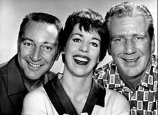 The Garry Moore Show is the name for several separate American variety series on the CBS television network in the 1950s and 1960s. Hosted by experienced radio performer, Garry Moore, the series helped launch the careers of many comedic talents, such as Dorothy Loudon, Don Adams, George Gobel, Carol Burnett, Don Knotts, Lee Goodman, James Kirkwood, Jr. and Jonathan Winters. The Garry Moore Show garnered a number of Emmy nominations and wins.