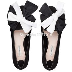 57.00$  Watch here  - Euro Spring Fashion Women Flats Black Creepers Large Size 40 Bowknot Zapatos Mujer Pointed Toe Chaussure Femmes Scarpe Donna