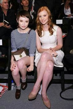 Emily Browning on the left.
