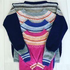 Sjekk DE tøffe fargene til Oskargenser - Knitting Inna Men Sweater, Colour, Wool, Knitting, Sweaters, Fashion, Velvet, Color, Moda