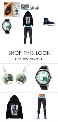 """Tim Burton's Cheshire Cat"" by maddie-hatter23 ❤ liked on Polyvore featuring Disney and Converse"