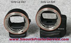Sony LA-EA4  NEX Camera Mount Adapter, Attach A-mount Lenses to E-mount FDF Camera Body – with Translucent Mirror Technology and Sony LA-EA3 NEX Camera Mount Adapter, Attach A-mount Lenses to E-mount Camera Body. - See more at: http://www.smoothprinterservice.com/sony-la-ea4-sony-la-ea3-full-frame-camera-mount-adapters/#sthash.SyaQiWtx.dpuf