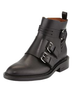 Givenchy monk-strap calfskin ankle boots