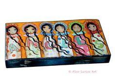 ••  Los Ángeles Giclee imprime montado sobre madera 5 x por FlorLarios