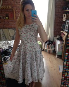 SOIshowoff June: Sew Over It Betty Dress with cute bird print fabric