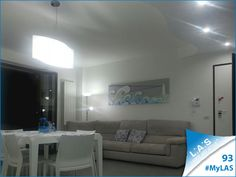 #MyLAS Welcome to Luisa e Giacomo's #home! #livingroom #design #homeinspiration #interiors #elegance http://www.laserartstyle.it/home/gallery/my-las/ LANDSCAPE WALL SCULPTURES   CODE: SI-176   SIZE: 180x60 cm   COLOUR: light grey - decoration light blue and violet