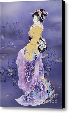 Skiyu Purple Robe Canvas Print / Canvas Art By Haruyo Morita