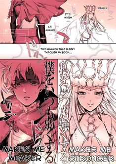 """Post with 82 votes and 9754 views. Tagged with fate grand order; Shared by guykla. """"My weakness and My strength"""" by Fate Stay Night Series, Fate Stay Night Anime, Comic Manga, Manga Comics, Fate Characters, Fate Servants, Fate Anime Series, Gurren Lagann, Fate Zero"""