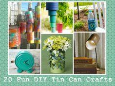 20 Fun DIY Tin Can Crafts  http://www.diyhomeworld.com/20-fun-diy-tin-can-crafts/