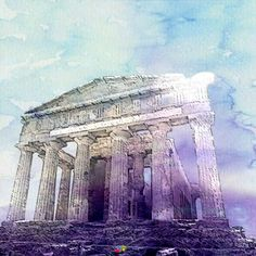 Cat and Architect: Architectural Graphic| Ancient Greek Temple