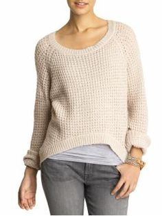 I never wear sweaters, but this seems cozy without being bulky. And love the raised hem in front (& price!)