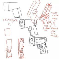 draw Tutorials — anatoref:   Drawing Guns Row 3 Everything Else