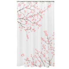 Home Classics Cherry Blossom Fabric Shower Curtain wondering if I could use this as a curtain instead?  Kohls.com  sale price at $17.99  reg $29.99