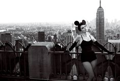 Tina Fey channels her inner pinup and Minnie Mouse for Vogue. Photo: Mario Testino for Vogue
