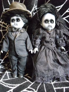 Kiera and Kieran 8 inch Vintage Altered Dolls by DeceasedArt