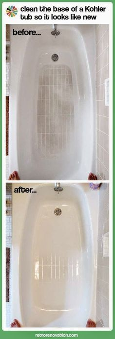 Cleaning the bathtub slip resistant bottom